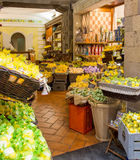 Lemon Orange and Olive Soaps. In a Sorrento market on the Amalfi Coast stock photography