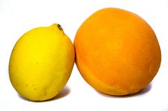 Lemon and orange teaming up Royalty Free Stock Photography