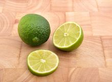 Lemon. Organic green lemon on white Royalty Free Stock Image