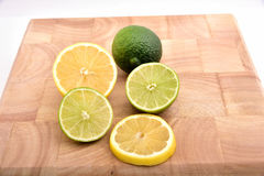 Lemon. Organic green lemon on white Stock Image