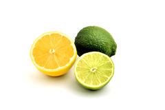 Lemon. Organic green lemon on white Royalty Free Stock Images
