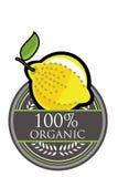 Lemon Organic label Stock Photos