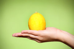Lemon over green Royalty Free Stock Images