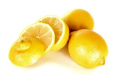Lemon over white Royalty Free Stock Image