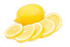Lemon ower white. Background royalty free stock photos