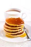 Lemon pancakes with honey Stock Image