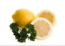 Lemon with parsley Royalty Free Stock Photo
