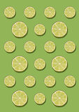 The lemon pattern on green background. Minimal concept. Stock Image