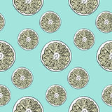 Lemon pattern Stock Photos