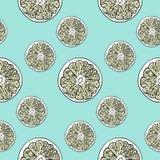 Lemon pattern Stock Photos
