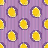 Lemon pattern. Seamless texture with ripe lemons Royalty Free Stock Image