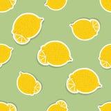 Lemon pattern. Seamless texture with ripe lemons Royalty Free Stock Images