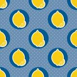 Lemon pattern. Seamless texture with ripe lemons Stock Photos
