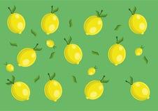 Lemon pattern. Vector lemon pattern and background Royalty Free Stock Photo