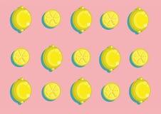 Lemon pattern. Vector lemon pattern and background Stock Photo