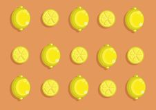 Lemon pattern. Vector lemon pattern and background Royalty Free Stock Image