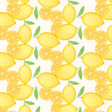 Lemon Pattern On White Background. Vector EPS of Lemon Pattern On White Background Stock Photos