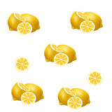 Lemon pattern on white background. Royalty Free Stock Photography