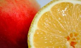 Lemon and peach Stock Image