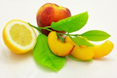 Lemon and peach Royalty Free Stock Photo