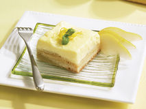 Lemon pear squares Royalty Free Stock Image