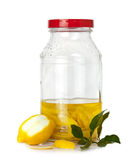 Lemon peel in fermentation Royalty Free Stock Image
