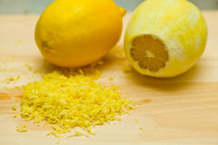 Lemon peel Stock Photography