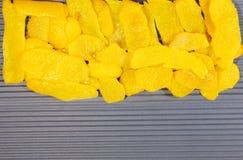 Lemon peel. Peel, lined coat on blue texture. Ukrainian flag, the texture of two colors royalty free stock photos