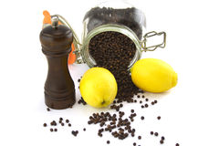 Lemon And Pepper Royalty Free Stock Images