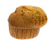 Lemon pepper breakfast muffin on white background Stock Image