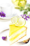 Lemon pie. Royalty Free Stock Photography
