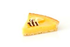 Lemon pie. A french lemon pie on the white background Royalty Free Stock Photos