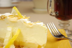 Lemon pie Royalty Free Stock Photography