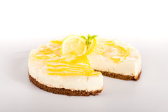 Lemon pie dessert creamy cake delicious sweet Stock Image