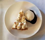 Lemon pie dessert stock photography