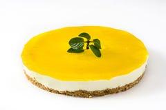 Lemon pie isolated on white background Stock Photography