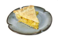 Lemon Pie Slice Stock Image