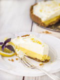 Lemon pie. Stock Photos