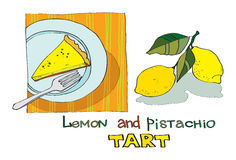 Lemon pistachio tart Royalty Free Stock Photo