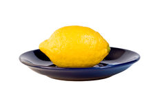 Lemon on plate Stock Photography