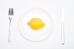 Lemon on the plate Stock Photo