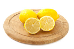 Lemon plate Royalty Free Stock Images