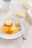 Lemon polenta cake Royalty Free Stock Images