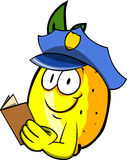 Lemon policeman checking papers Royalty Free Stock Images