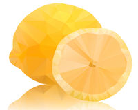 Lemon of polygons on a white backgroun Royalty Free Stock Photos