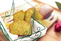Lemon Poppy Seed Bread stock photos