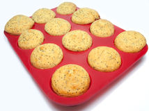 Lemon poppy seed muffins Stock Photo