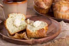 Lemon Poppy Seed Muffins Stock Photos