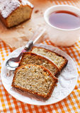 Lemon poppy seeds cake Royalty Free Stock Images
