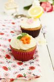 Lemon and poppy seeds cupcakes Stock Image